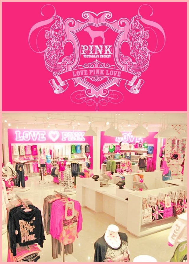 Stores that sell pink clothing