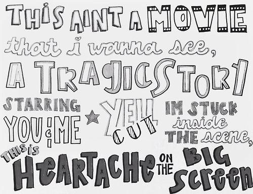 heartache on the big screen lyrics 5sos typography quotes pinterest the o jays lyric