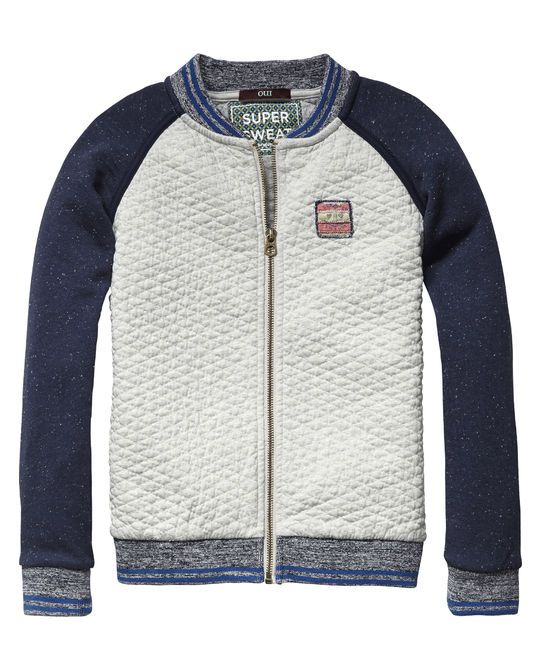 Quilted College Jacket - Scotch