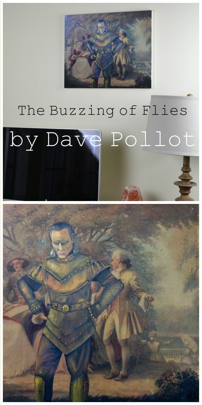'The Buzzing of Flies' by Dave Pollot - $15.00 - Ghostbusters Vigo the Carpathian Parody - Repurposed thrift art by Dave Pollot