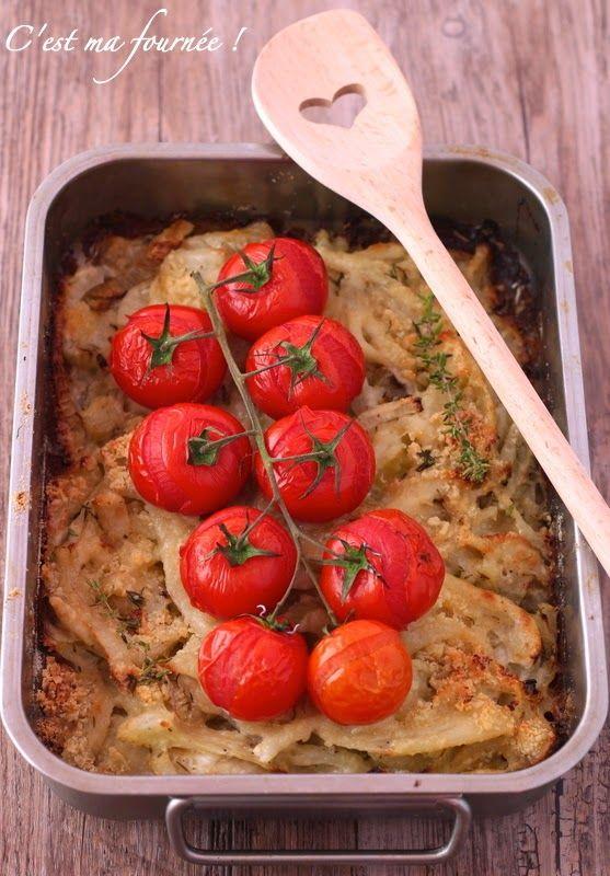 C'est ma fournée !: Le gratin façon crumble au fenouil et aux tomates cerise d'Ottolenghi