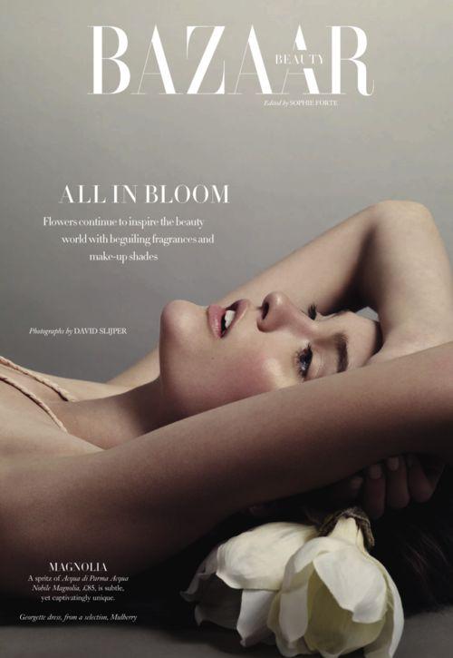 """Katie Fogarty By David Slijper """"All In Bloom"""" Harper's Bazaar UK May 2013"""