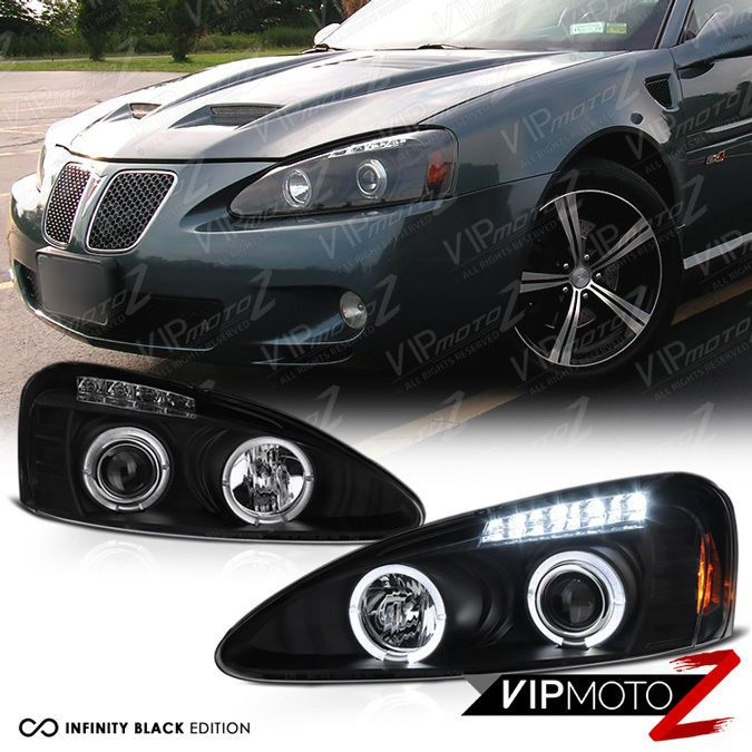 Black Halo Angel Eye Projector Headlight 04-08 Pontiac Grand Prix GT1 GT2 GTP #VIPMOTOZ