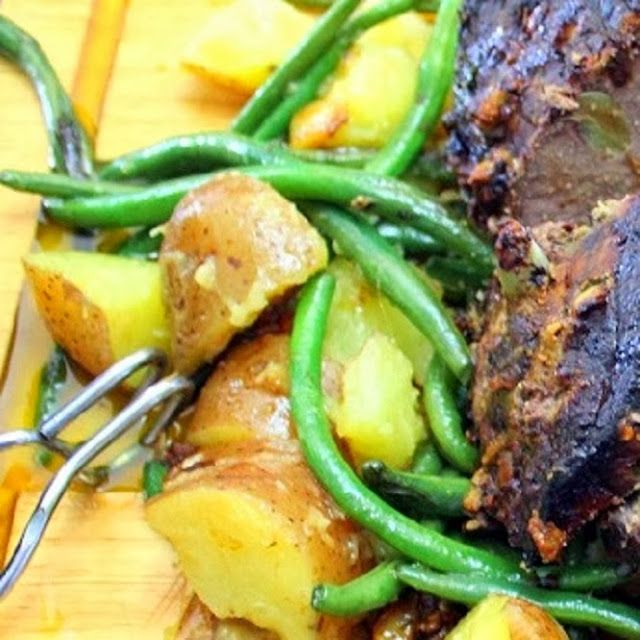 Inspired By eRecipeCards: Garlic, Potatoes and Green Beans Warm Potato Salad - Feeding Larry Pt 9 - Grilling Time Side Dish
