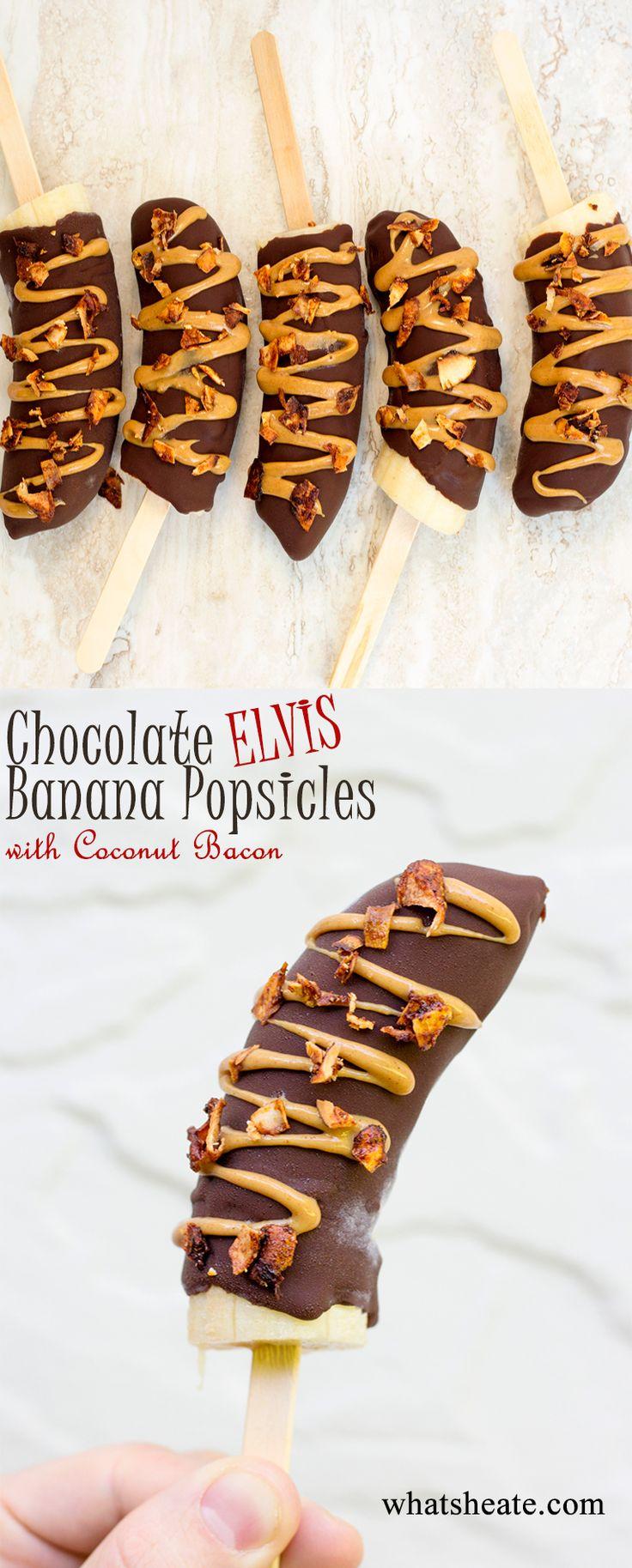 Chocolate Elvis Banana Popsicles #vegan #glutenfree #recipe