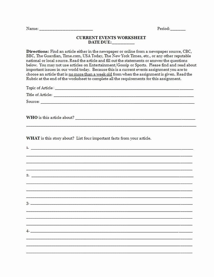 50 Current events Worksheet Pdf in 2020 Current events