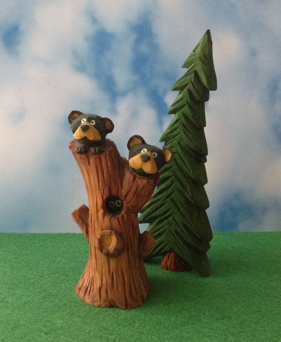 Double Trouble Hand Carved Country Bear by TheWanderingWhittler, £18.50