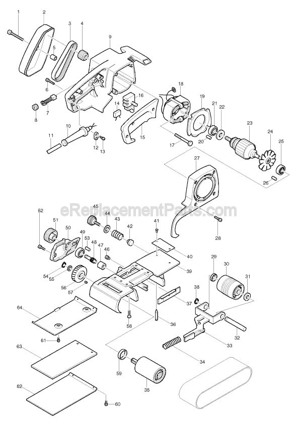 Makita 9924B Parts List and Diagram : eReplacementParts