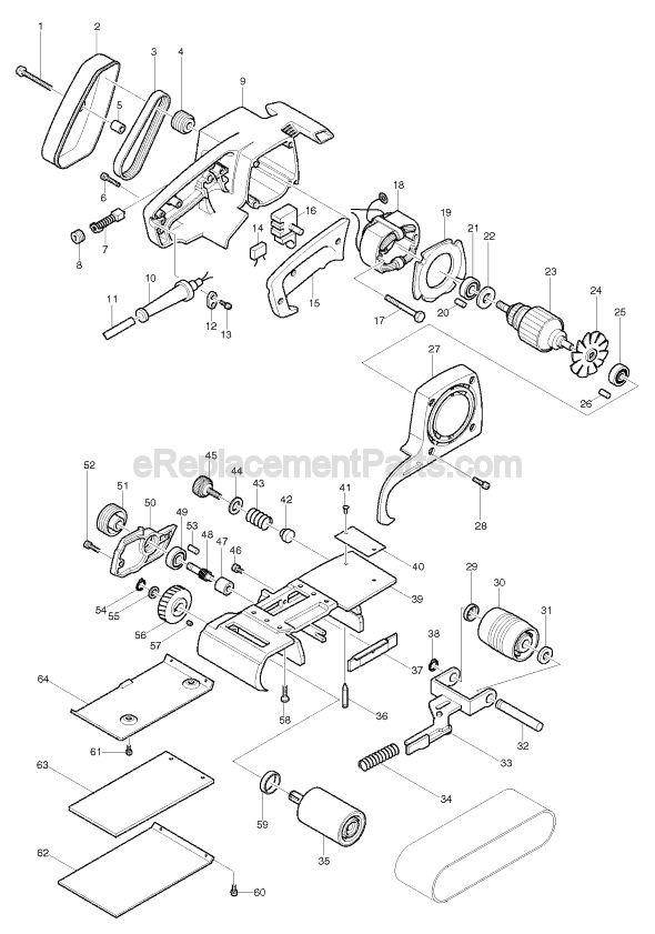 Makita 9924B Parts List and Diagram : eReplacementParts