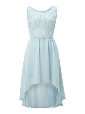 True Decadence Lace dip dress Light Blue - House of Fraser