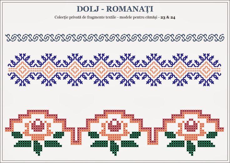 Semne Cusute: romanian traditional motifs - OLTENIA: Dolj & Roma...