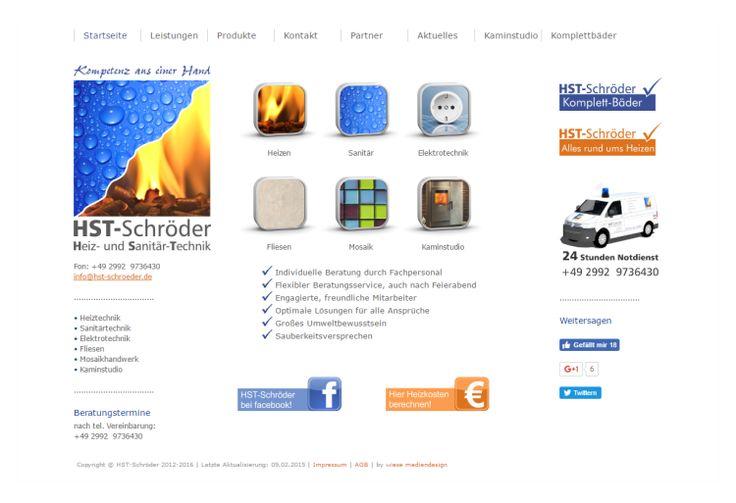 Homepage Heiztechnik Sanitärtechnik  www.hst-schroeder.de