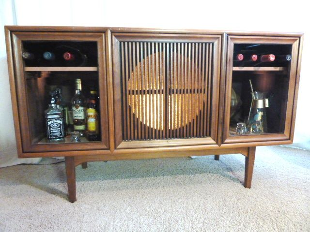 repurposed as a bar it was originally a console stereo designed by rh pinterest com