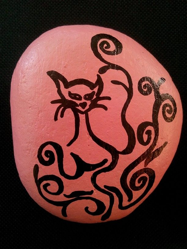 Rock painting, Cat