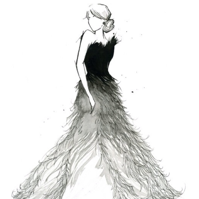 Image result for drawing of masquerade gown