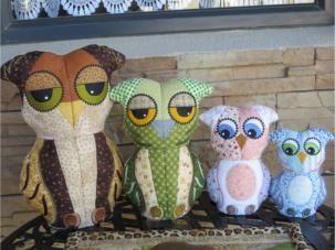 4 generations of delightful owls in 1 set!