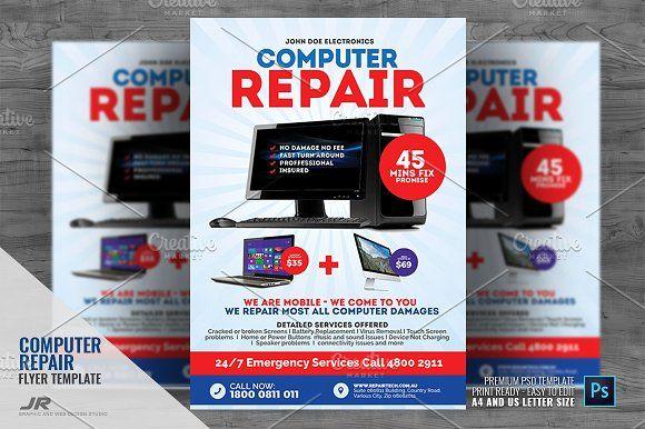 Computer Repair Shop Flyer Computer Repair Shop Computer Repair Repair