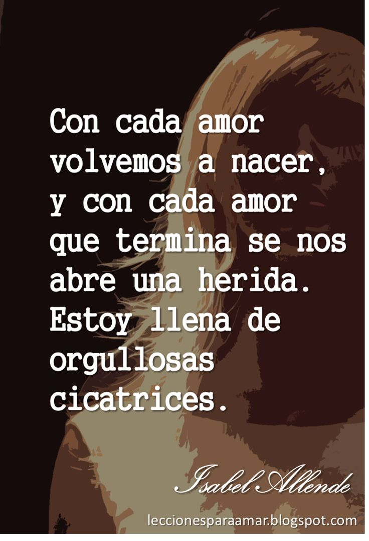 Lecciones para amar: Frase de amor y separación - Isabel Allende