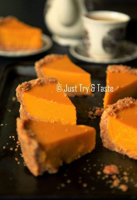 Pie Labu Kuning dengan Biscuit Crust | Just Try & Taste