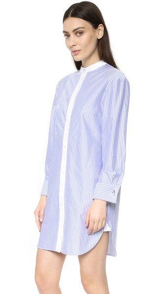 Olivia von Halle Hemmingway Twill Sleep Shirt