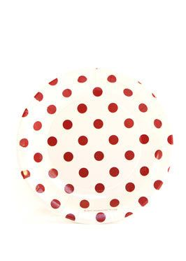 Party Time Celebrations  - Red and White Polka Dot Paper Plates 17cm, $6.95 (http://www.partytimecelebrations.com.au/red-and-white-polka-dot-paper-plates-17cm/)