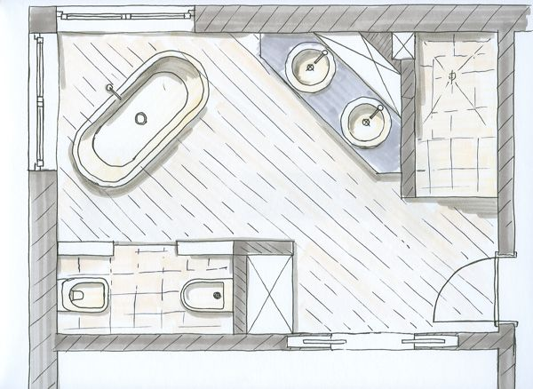 9 best Badezimmer images on Pinterest Bathroom ideas, Bathroom - badezimmer grundriss