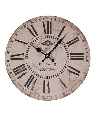 ($16) This 13'' Beige Wall Clock is perfect! #zulilyfinds