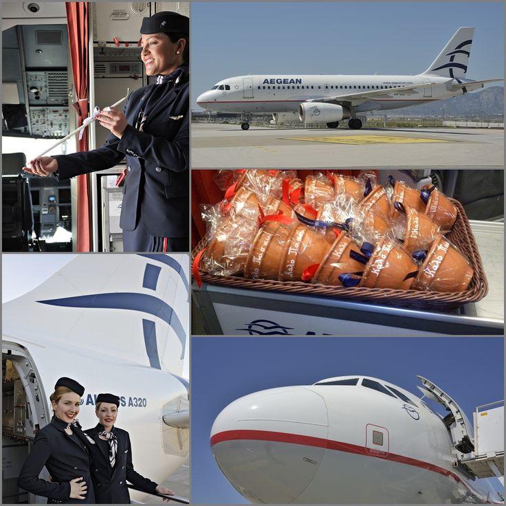 2. Κανάτια κατά το Έθιμο προσφέρονται στην πρωινή πτήση της Κέρκυρας για το χαρμόσυνο Άγγελμα της Πρώτης Ανάστασης στο Λιστόν. Ευχαριστώ πολύ την κ. Έλενα Θλιβερού για την πανέμορφη φωτογραφία με τα κανάτια από την πτήση Α3 398 για την Κέρκυρα