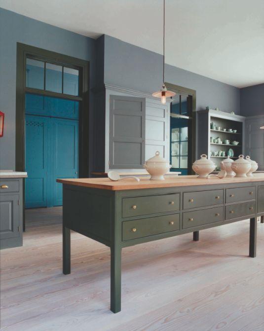 Colour In A Plain English Kitchen
