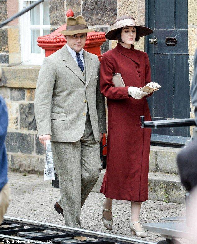 It's almost over! Cast members Michelle Dockery and Allen Leech were seen filming scenes f...