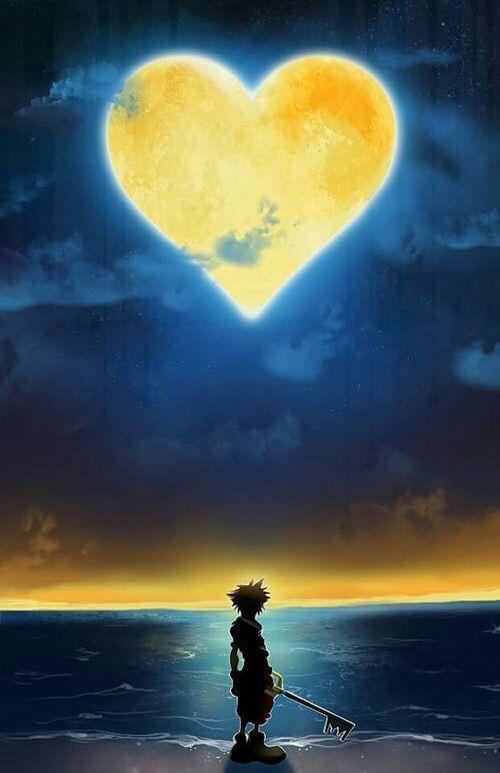Image via We Heart It #hearts #Island #kingdomhearts #moon #night #sora