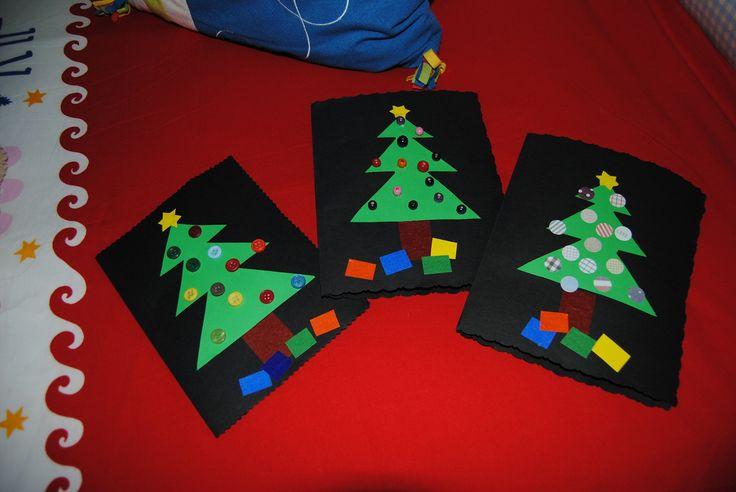 Tarjetas navidad infantiles manualidades buscar con - Ideas postales navidad ...
