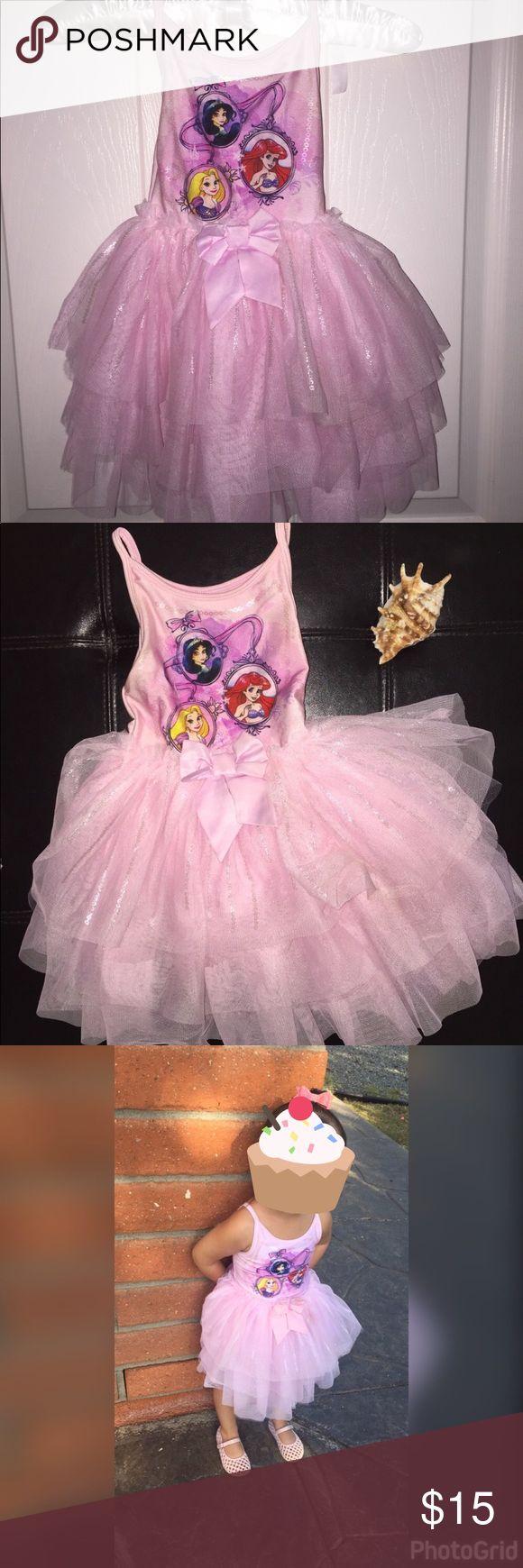 Disney princess tutu dress Adorable pink Disney princess dress in great condition. Disney Dresses Casual