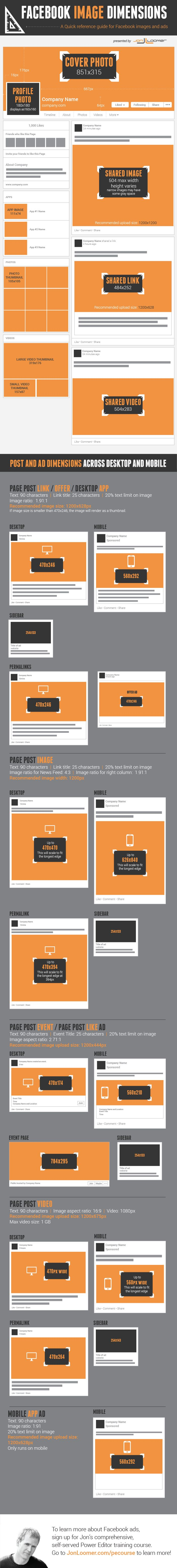 All #Facebook Image #Dimensions: Timeline, Posts, Ads [ #Infographic ] 9/16/14