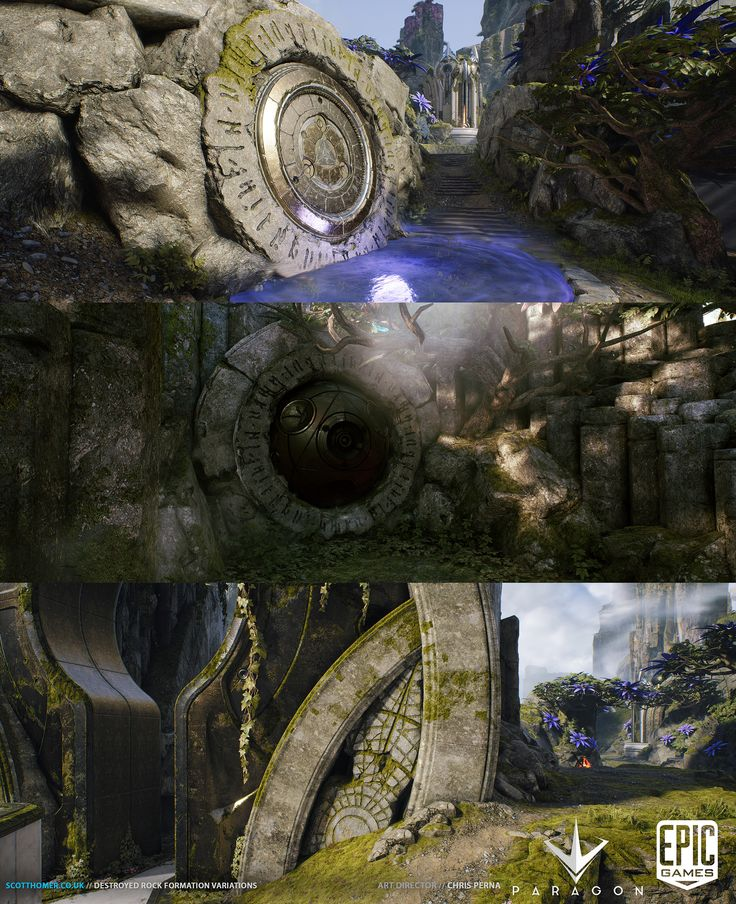 Over the past 2 years I had the fantastic opportunity of working in a small team of immensely talented artists here at Epic Games to put together a few levels for the MOBO 'Paragon'. Here are some of the organic rock elements I created for these levels, most were built with 60fps and modularity/reuse in mind. For a portion of the rock detailing I created Zbrush alphas and brushes by reusing Rocks originally created by Rick Kohler for use in Unreal Tournament.    Other Map Credits...