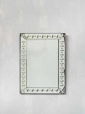 Rectangular venitian mirror 62x93cm.