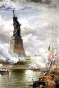 Unveiling the Statue of Liberty  by Edward Moran