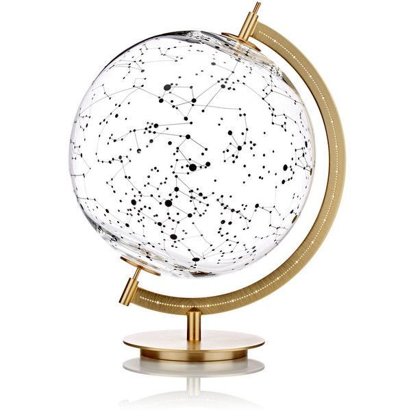 Secondome MOD. SKY Stellar-Map Globe found on Polyvore featuring home, home decor, colorless, map globe, map home decor, constellation globe, modern home accessories and mod home decor