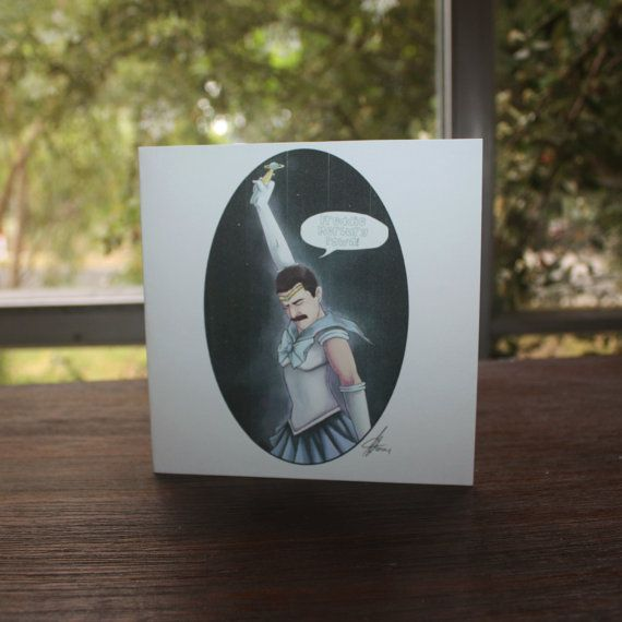 Sailor Freddie Mercury Greeting Card Birthday Card Blank by Enixy