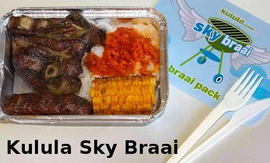 Kulula Sky Braai pack unveiled on 1 April 2014...