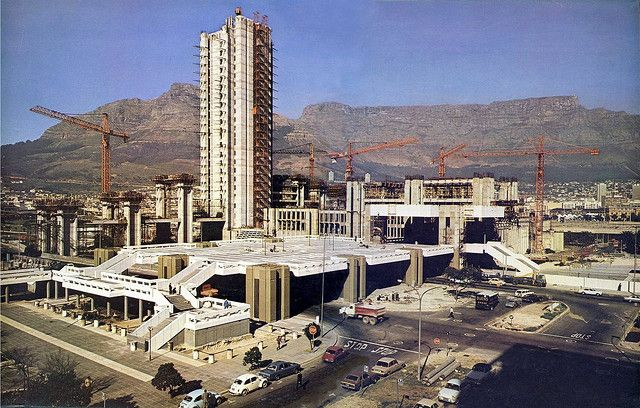 Cape town Civic Centre under construction - 1975 south africa
