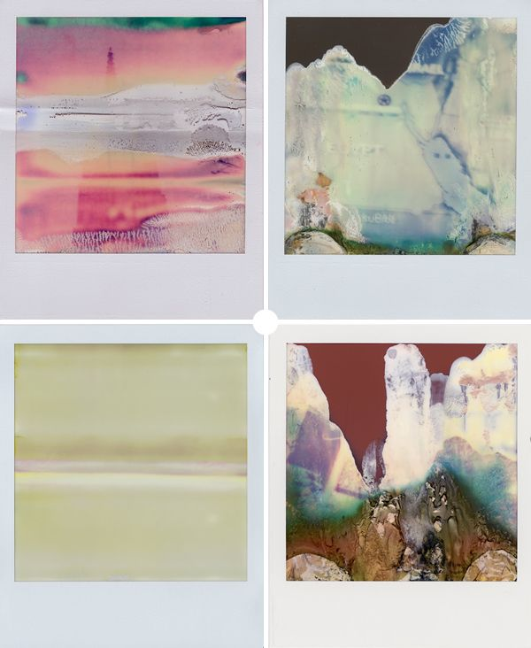 Could inspire working over portrait photos, or locations, objects that are connected to the individual as a representation Ruined Polaroids - intentional accidents by William Miller