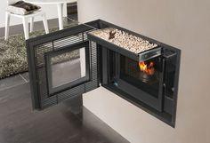 Pellet fireplace insert / 1-sided - INPELLET - EDILKAMIN