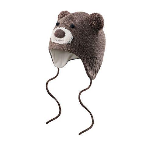 Bear baby beanie  BROWN