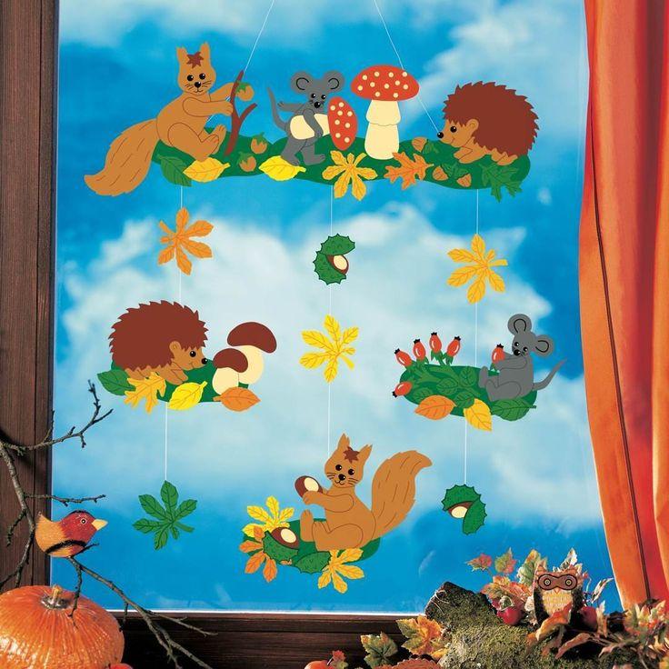 Die besten 25 fensterbilder herbst basteln tonpapier ideen auf pinterest fensterbilder herbst - Herbst bastelvorlagen fensterbilder ...