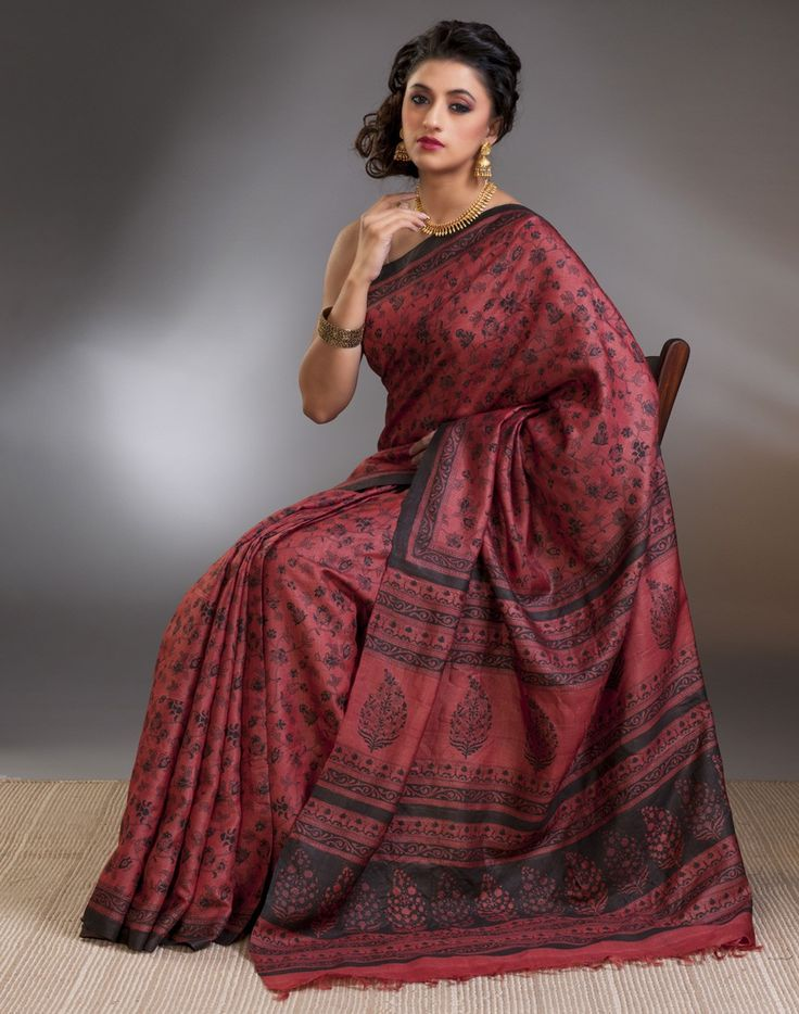 Silk Tussar Highlight Jaal Body Sari