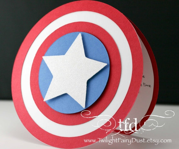 Captain America party Visit www.fireblossomcandle.com for more party ideas!