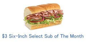 The new $3 six inch select available at Subway for them month of October is the Black Forest Ham & Cheese!  http://www.subwaysubofthemonth.com/subway-sub-of-the-month-october/  #subway #subwaysubofthemonth