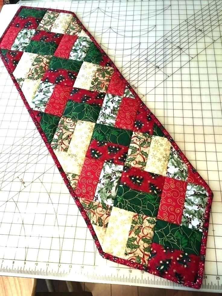 Christmas Table Runner Pattern Free.Christmas Table Runner Xmas Ideas Easy Patterns Free Sew