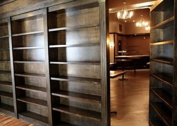 secret passageway- what? the bookcase opens up, you say? FREAKING AWESOME.